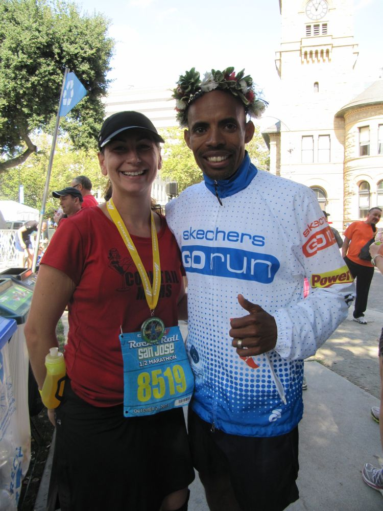 Me & Meb at Rock n' Roll San Jose 2011