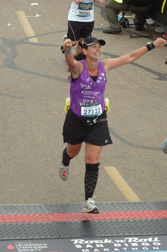 Yours truly crossing the finish of 26.2 number two!