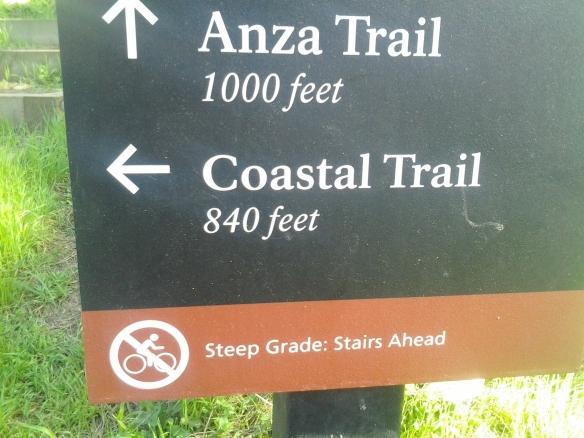 Yeah, steep stairs, yeah...