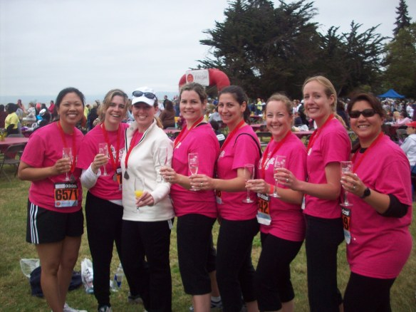 Here we are in 2009, running for Champagne and Chocolate!