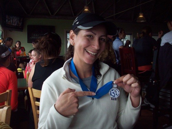 I did it for the medal. And the mimosas...
