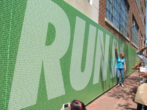 Nike Wall of Name Fame