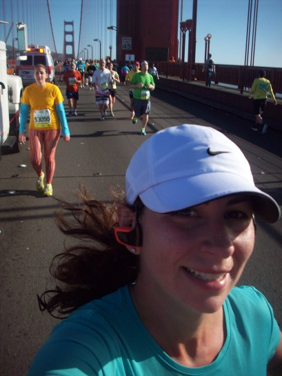 Happy Running across the Golden Gate Bridge with my Meb Walkman!